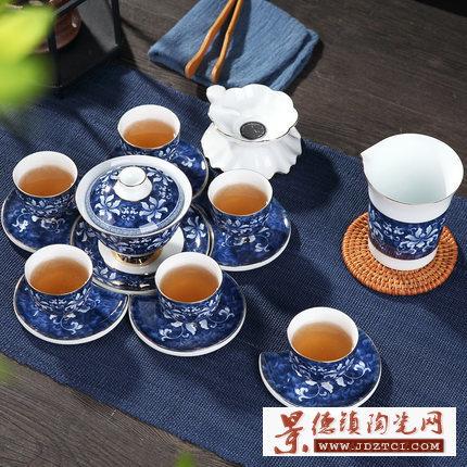 陶瓷功夫茶具白瓷套装家用简约泡茶器日式泡茶壶茶杯茶道