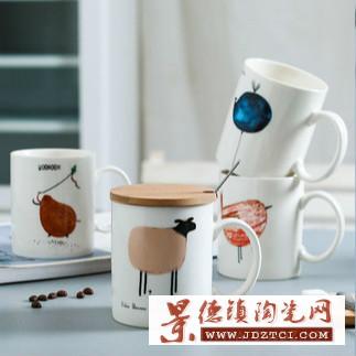 厂家直销陶瓷卡通马克杯
