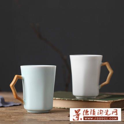 景德镇手绘简约中国风水杯