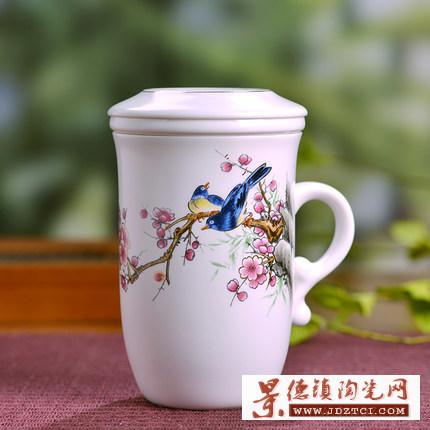 厂家定制LOGO茶杯