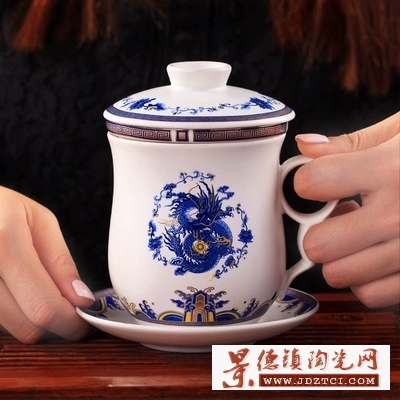 景德镇陶瓷四件套杯