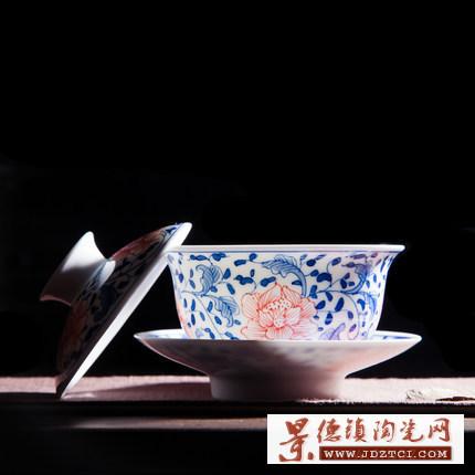 景德镇纯手工陶瓷泡茶碗茶杯大号