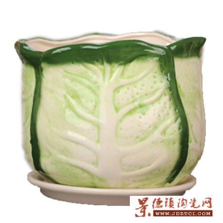 陶瓷中式插花器